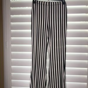 Black and white striped forever 21 pants